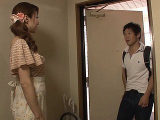 Japanese housewife masturbating in advance procurement throbbed